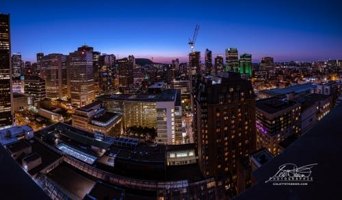 Panorama de Montréal la nuit