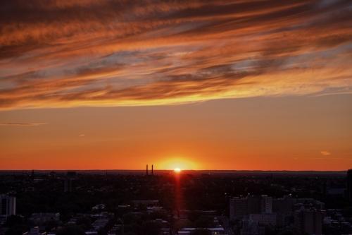 Coucher de soleil au nord de Montréal